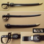 1917 U.S. Navy Cutlass  & Leather Scabbard